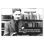 George Orwell: Language Thought Large Poster