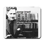 George Orwell: Language Thought Mousepad