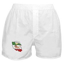 Iran Flag-Map & Sun Boxer Shorts