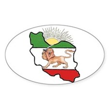 Iran Flag-Map & Sun Oval Decal
