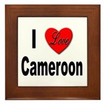 I Love Cameroon Framed Tile