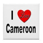 I Love Cameroon Tile Coaster