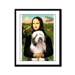 Mona / Bearded Collie #1 Framed Panel Print
