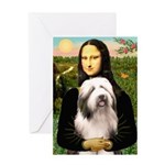 Mona / Bearded Collie #1 Greeting Card