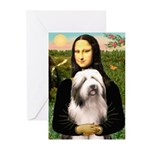 Mona / Bearded Collie #1 Greeting Cards (Pk of 20)