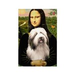 Mona / Bearded Collie #1 Rectangle Magnet