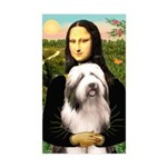 Mona / Bearded Collie #1 Sticker (Rectangle)