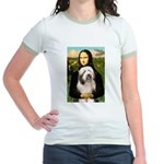 Mona / Bearded Collie #1 Jr. Ringer T-Shirt