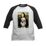 Mona / Bearded Collie #1 Kids Baseball Jersey