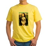 Mona / Bearded Collie #1 Yellow T-Shirt