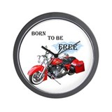 Born To Be Free Wall Clock