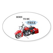 Born To Be Free Oval Decal