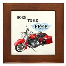 Born To Be Free Framed Tile