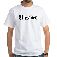 Unsaved White T-Shirt