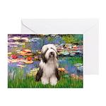 Lilies / Beardie #1 Greeting Cards (Pk of 10)