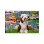 Lilies / Beardie #1 Rectangle Magnet (10 pack)