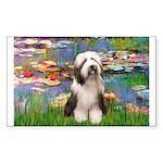 Lilies / Beardie #1 Sticker (Rectangle)