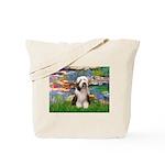 Lilies / Beardie #1 Tote Bag