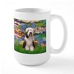 Lilies / Beardie #1 Large Mug