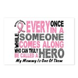 HERO Comes Along 1 Mommy BREAST CANCER Postcards (
