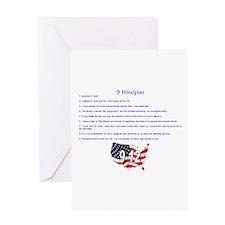 9 Principles 12 Values Greeting Card