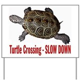 Turtle Crossing Yard Sign