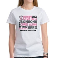 HERO Comes Along 1 Grandma BREAST CANCER Tee