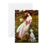 Windflowers / Dalmatian #1 Greeting Cards (Pk of 2