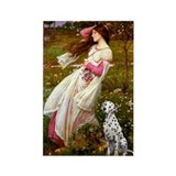 Windflowers / Dalmatian #1 Rectangle Magnet (10 pa