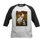 Windflowers / Dalmatian #1 Kids Baseball Jersey