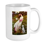 Windflowers / Dalmatian #1 Large Mug