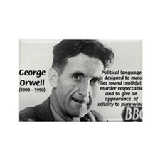 Politics / Language: Orwell Rectangle Magnet