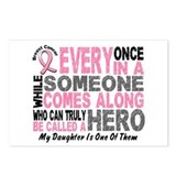 HERO Comes Along 1 Daughter BREAST CANCER Postcard