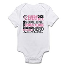HERO Comes Along 1 Friend BREAST CANCER Onesie
