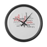 Psalm 23: 1-3 Large Wall Clock
