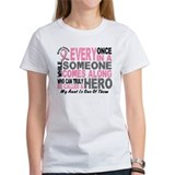 HERO Comes Along 1 Aunt BREAST CANCER Tee