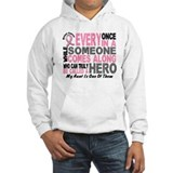 HERO Comes Along 1 Aunt BREAST CANCER Hoodie