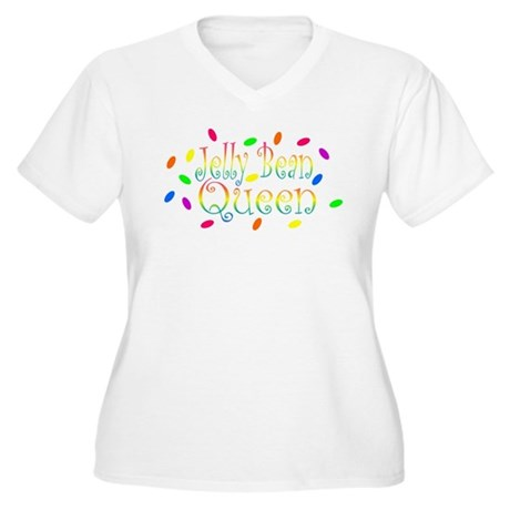 Jelly Bean Queen Women's Plus Size V-Neck T-Shirt
