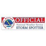 NWS &amp;quot;Official&amp;quot; Storm Spotter Bumper Sticker