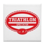 Triathlon Oval - Men's Spectator Tile Coaster