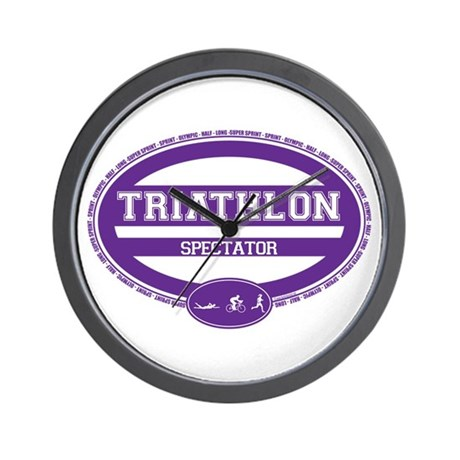 Triathlon Oval - Women's Spectator Wall Clock