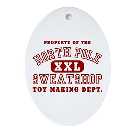 Property of the North Pole Oval Ornament
