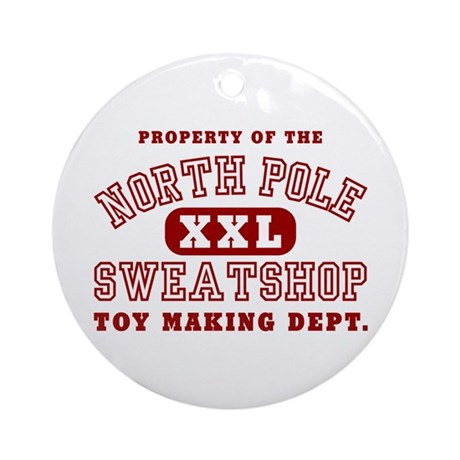 Property of the North Pole Ornament (Round)