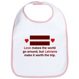 Latvian Love Bib