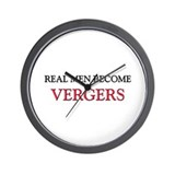 Real Men Become Vergers Wall Clock