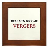 Real Men Become Vergers Framed Tile