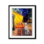 Cafe / Dalmatian #1 Framed Panel Print