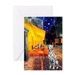 Cafe / Dalmatian #1 Greeting Card