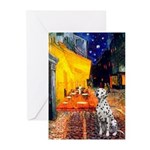 Cafe / Dalmatian #1 Greeting Cards (Pk of 10)