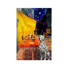 Cafe / Dalmatian #1 Rectangle Magnet (10 pack)